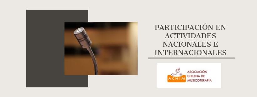 Participación de Socios Achim en actividades nacionales e internacionales.
